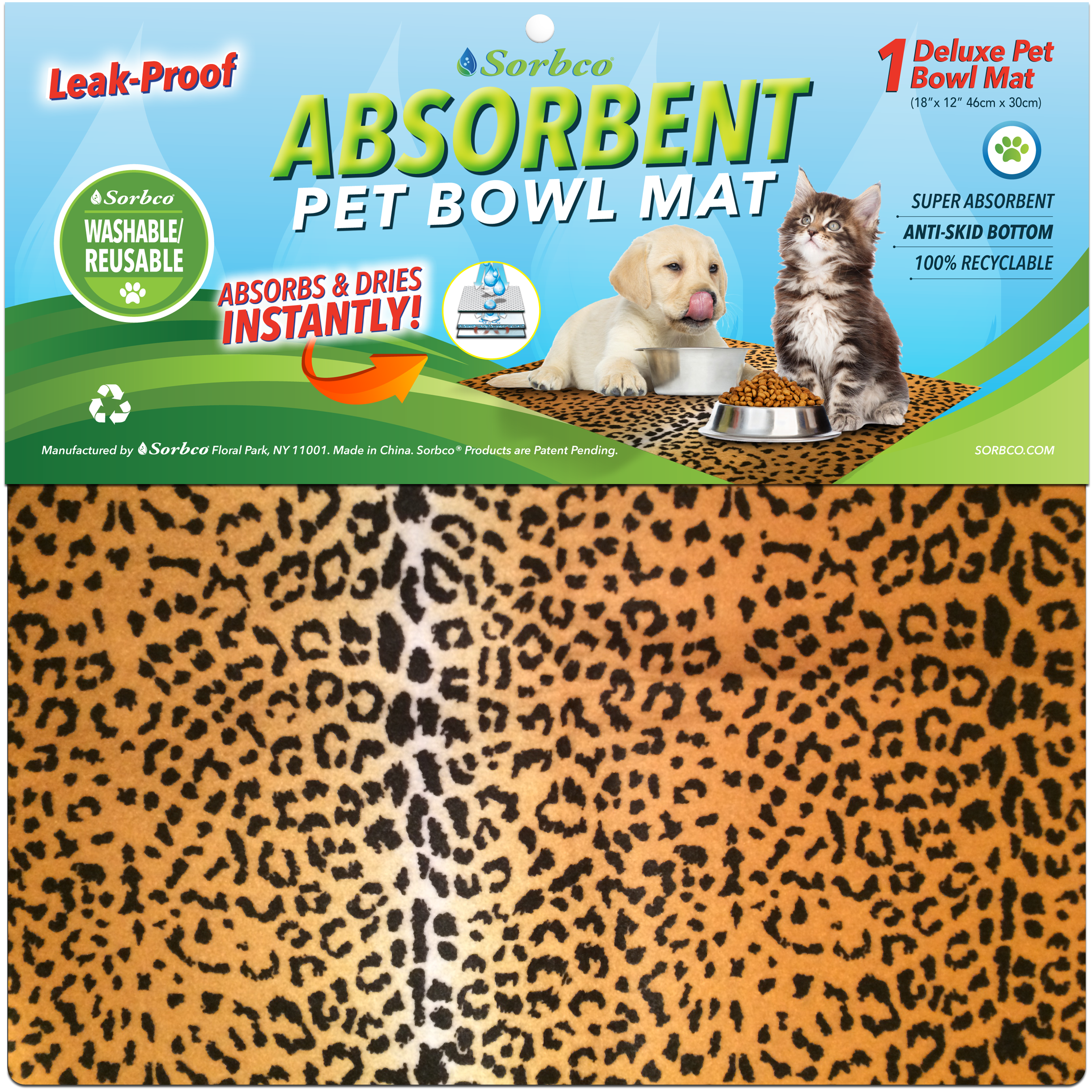 absorbent food non slip image material dinner mate dog water cat mat mats bowl pet amp